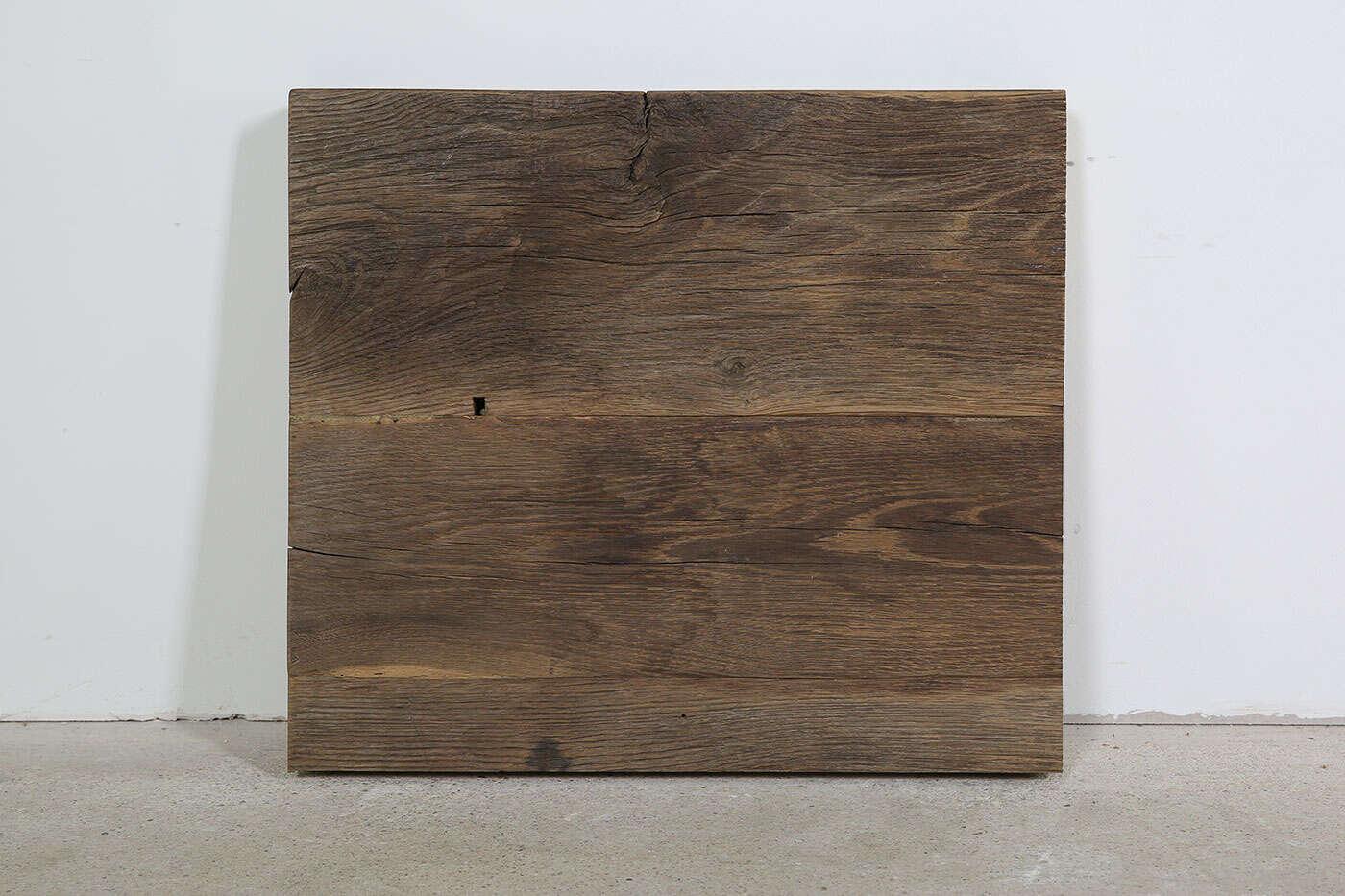 Tischplatte Alteiche gebürstet 56 x 49 x 6cm