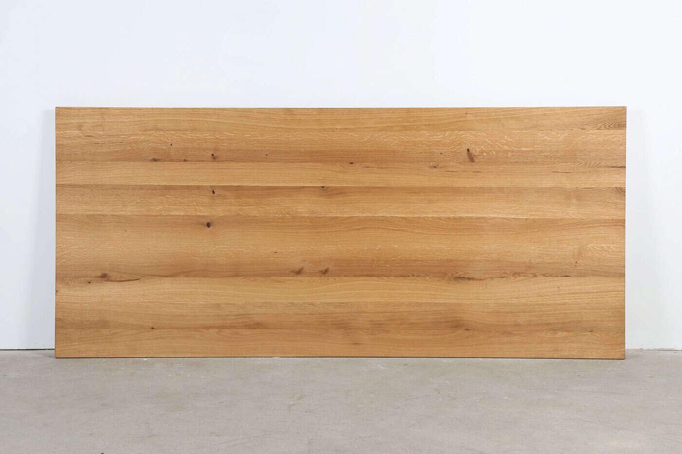 Eiche Tischplatte vollmassiv nach Maß 6cm