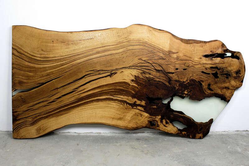 Baumscheiben Tischplatte Epoxy Unikat 283 x 140cm