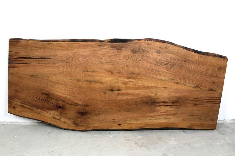 Eiche Tischplatte gespiegelt Unikat 250 x 116cm