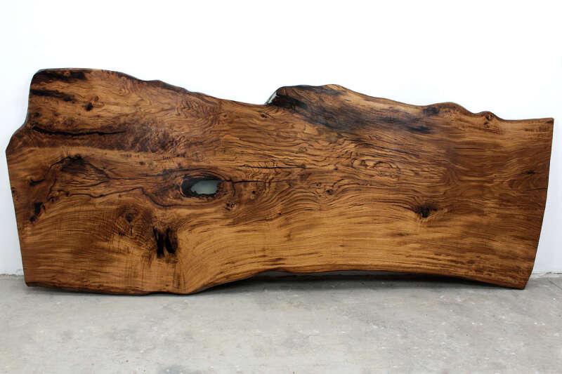 Baum Tischplatte massiv Eiche 367 x 148cm
